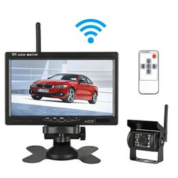 Car reverse parking Camera wireless online shopping - 7 quot TFT LCD Real Wireless Wired Car Monitor HD Display Reverse Camera Parking System For Car Dvr Rearview Monitors For Truck work car
