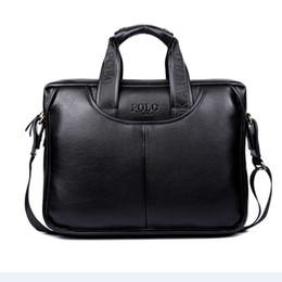 $enCountryForm.capitalKeyWord Australia - Leather Solid Color Business Men 'S handbag Messenger Laptop Bag Private Custom 2017 New Style Men's Business Bag Fashion Genuin
