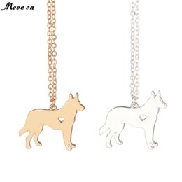 b397de1e6 Gold & silver German Shepherd Necklace Dog Jewelry Breed Pet Gifts Dog  Memorial Gift New Puppy Doggy Rescue for lovers