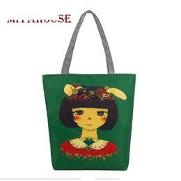 Cute Canvas Handbags Australia - good quality Cute Rubbit Girl Printed Shoulder Bag Women Cartoon Design Canvas Tote Handbag Female Daily Use Girls Handbag