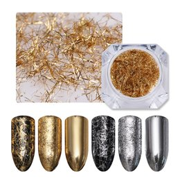 $enCountryForm.capitalKeyWord Australia - Glitter BORN PRETTY Gold Silver Strip Mirror Flakies Metal 3D Nail Decoration Wire Line UV Gel Nail Art Decoration Accessories