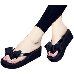$enCountryForm.capitalKeyWord Australia - B394 2019 Summer Woman Shoes Platform Bath Slipper Wedge Beach Flip Flops High Heel Slippers For Women Beach Flip Flops Summer Sandal
