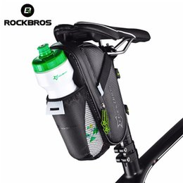 bags water bottle pockets NZ - 2019 ROCKBROS Bicycle Water Bottle Pocket Waterproof Reflective MTB Bike Saddle Bag Outdoor Sports Cycling Rear Seat Tail Bag