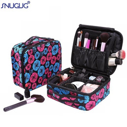 storage makeup brushes Australia - Female High Quality Professional Makeup Organizer Makeup Suitcase Artist Box Brushes Tools Case Storage Bag Suitcases