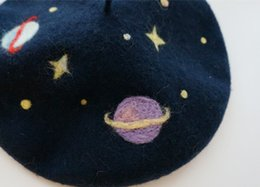 China Hats Caps Berets New Planet Beret Hats 100% Wool French Women Navy Blue Autumn Ladies Girls Caps Custom-made cheap girl sexy hat suppliers
