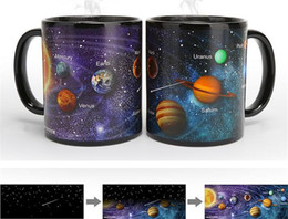 Solar ceramicS online shopping - Ceramic Cups Changing Color Mug Milk Coffee Mugs Friends Gifts Student Breakfast Cup Star Solar System Mugs