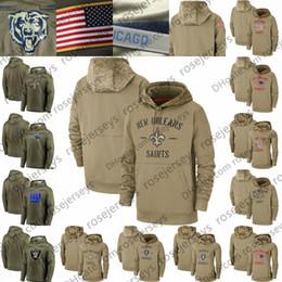 Wholesale 2020 Tan Sweatshirt Salute to Service Pullover Khaki Hoodie New York Orleans Patriot Saints Oakland Giants Raider Olive Men Women Kid Youth