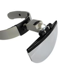 Freeshipping Multi power LED Capacete Iluminado Lupa Relojoeiro Instrumento Lupa com Luz LED Extensão Dos Cílios Fone De Ouvido venda por atacado