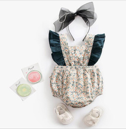 newborn baby girl princess clothing NZ - Baby Girls Clothes Summer Floral Newborn Infant Baby Rompers Princess Baby Jumpsuit Backless Toddler Sunsuit Clothes For Girls Y19050602
