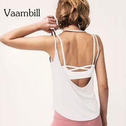 $enCountryForm.capitalKeyWord Australia - Sports Wear For Woman Sport Workout Tops Gym Vest Tank Yoga Top Women Fitness T-shirt Sleeveless Open Back Shirt Sportswear