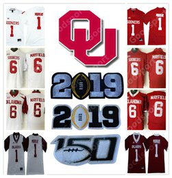 2019 PLAY OFF Rose bowl NCAA Oklahoma Sooners College Kyler Murray Baker  Mayfield 6 Peterson 28 Jersey football sport NEW 150 patch ddf20d093
