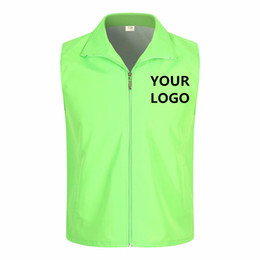 work uniforms wholesale UK - 1PCS Free Custom Design Vests Print Logo Men Woman High visibility safety vest work Vest Workwear Uniform
