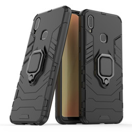 $enCountryForm.capitalKeyWord Australia - For Vivo Y91 Y91i Y95 Case Cover Hard Hybrid Armor Soft Silicone Edge Matte Finished Anti Fingerprint with Kick Stand Foldable