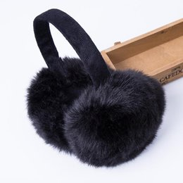 $enCountryForm.capitalKeyWord UK - Wholesale- Fashion Rabbit Fur Women Earmuffs For Brand Winter Earmuffs Comfortable Warm Ear Cover Ear Warmers For Girls Adjustable