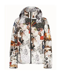 Vintage sports jackets online shopping - 19FW Digital FF Jacket Loose Hooded Casual Slim Vintage Sports Windbreaker Graffiti Fashion Jackets D F Printing