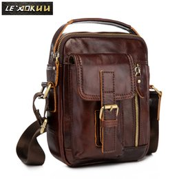 Genuine Leather Design Multifunction Men Shoulder Messenger Bag Fashion Heavy Duty Belt Waist Pack Leg Bag Tablets Pouch 913-5db Fine Jewelry