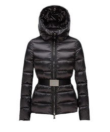 down coats for ladies Canada - New Fashion Winter Down Jackets Women Hooded with Sashes Brand Designers for Lady Outdoor Clothes Slim Outerwear Luxury Coat Online