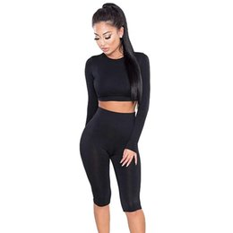 China 2 Piece Set Women Sexy Long Sleeve Top+Biker Shorts Track Suit Bodycon Tracksuit Casual Two Pieces Outfits Sweatsuit R-3 cheap red bodycon suits suppliers