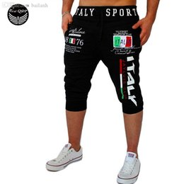 surf compression shorts UK - Wholesale-Shorts Mens Gym Tights Compression Bermuda Basketball Short Gym Italy Printing Design Sport Men Homme Running Surf Shorts SUWAA