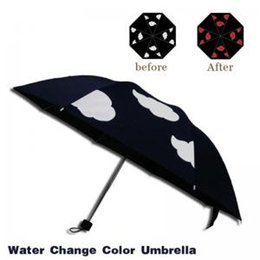 Umbrellas Uv women online shopping - Anime Color Changing Umbrella Styles Cartoon Printed Movie Anti UV Black Coating Women Cloud Outdoor Sunny Rainy Umbrella OOA6151