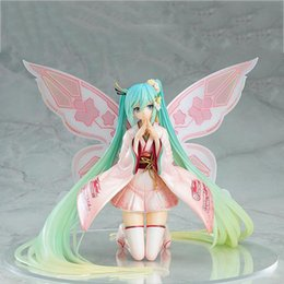 racing miku figure Australia - NEW Racing 2017 Miku GT Hatsune Miku Sunny Ver. racing Hatsune Kimono dress PVC Action Figure Collectible Model Toys