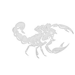 $enCountryForm.capitalKeyWord Australia - Scorpion Pattern Vinyl Sticker Decal Auto Car Light Window White, Black Bumper Motorcycle Decor