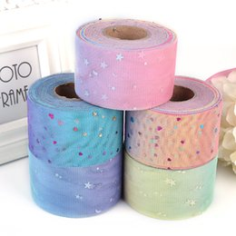 $enCountryForm.capitalKeyWord Australia - Tulle Roll 5.5cm 50Yards Sequins Gauze Stars Wedding Party Decor DIY Tutu Fabric Decorative Crafts Christmas Kids Queen Skirts