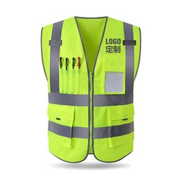 Clothing engineering online shopping - Reflective vest construction engineering safety protective clothing traffic warning green car fluorescent coat