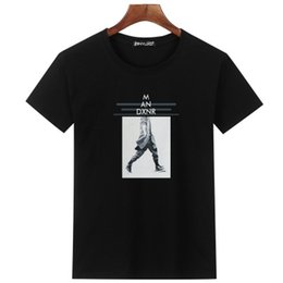 Mens Casual Print T-Shirt Summer Loose Short Sleeve Crew Neck Male Cotton Tee Street Seasons Male Clothing