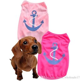 $enCountryForm.capitalKeyWord Australia - Summer Pet Dog Shirt Clothes Cute Lovely Anchors printing Vest Shirts T Shirt Clothing for Dogs Cats Pet Products