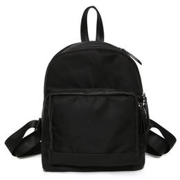 Wool Cloth Soft Australia - Fashion Nylon Cloth Solid Color Backpack Fashion Teenage Girl Backpack Female Best Female