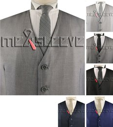 Costume formel Waistcoat V-cou des hommes Viscose Tailored Waistcoat