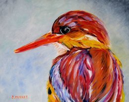Canvas Art Prints Birds Australia - Cartoon Art A Bird,Oil Painting Reproduction High Quality Giclee Print on Canvas Modern Home Art Decor 3803