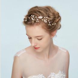 $enCountryForm.capitalKeyWord Australia - Bride's Handmade Headdress Pearl Simple Hair Band Jewelry New