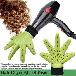 $enCountryForm.capitalKeyWord Australia - Magic Air Curler Hand Hair Dryer Diffuser Easy Wind Cap Home Salon Hairdressing Specification: Type:Hair Dryer Accessory Color:Green