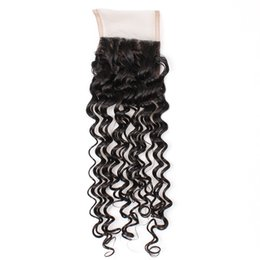 Curtains Direct UK - YAHLIGS Lace Closure 100% Real Hair Piece Lace 4*4 Hair Curtain Accessories Deep Wave Hair Extensions Direct factory J36