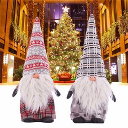 christmas santa figurines NZ - Nordic Gnome Christmas Gifts Sweden Christmas Santa Claus Dolls Standing Figurine Xmas Plush-Christmas Kids Gift Z