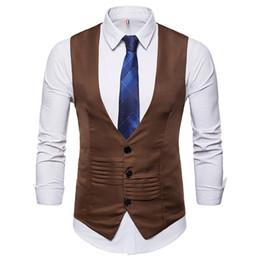 8c321807b77 2018 New Arrival Dress Vests For Men Slim Fit Mens Suit Vest Male Waistcoat  Homme Casual Sleeveless Formal Business Jacket Y1266