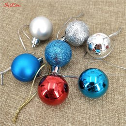 christmas decoration balls Australia - 24pcs   lot 30mm Christmas Tree Decor Ball Bauble Xmas Party Hanging Ball Ornament for Home decoration Christmas Gift 5Z