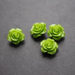 $enCountryForm.capitalKeyWord NZ - 20Pieces lot 15mm Synthic Coral flower beads Camelia Flower Shape Loose Beads Light Green Color Cabochon for Jewelry making