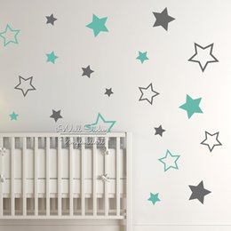 Nursery Wall Stickers For Boys Australia - Nursery Stars Wall Sticker, Star Wall Decal, Star Wall Stickers For Kids Room, Children Room Decoration, Boys Girls Decal N22 T8190612