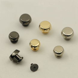 rivet button snaps NZ - Metal Nail Rivets Screw For Bags Handbag Stud-bottom Embellishments Studs Buttons Metal Snap Hooks DIY Leather Craft