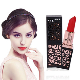 Mixing Red Purple Lipstick Australia - 1 Pc Hollow Design 24 Colors Waterproof Long Lasting Matte Lipstick Nude Cream Lipstick Charming Moisturizing for Women Cosmetic