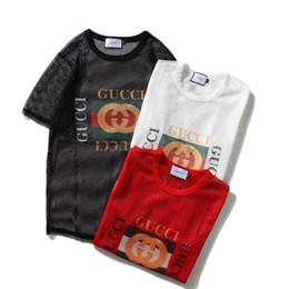 59a5851d81 t shirt women Hollow network tshirt woman gucaaawe summer streetwear short  sleeve t-shirt mens t shirts camiseta Couple wearing shirt homme