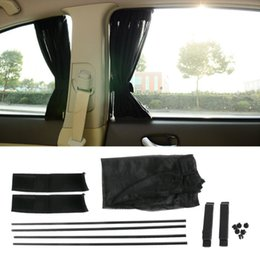 Black Blocks Australia - 1Set Universal Black Mesh Interlock VIP Car Window Curtain Sunshade Visor UV Block