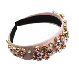 violet hair UK - New Baroque Fashion Temperament Jewelry Headband Hair Accessories With Accessories Christmas Decorations