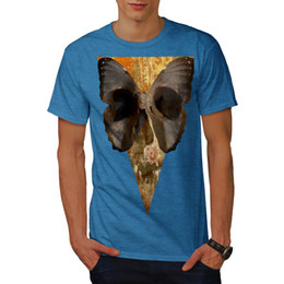 skull graphic tees NZ - Wellcoda Butterfly Face Art Skull Mens T-shirt, Soul Graphic Design Printed Tee Men Women Unisex Fashion tshirt Free Shipping