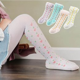 Wholesale dance pantyhose resale online - Fashion floral Girls Pantyhose Love princess kids pantyhose Girls PP Pants Kids Leggings Baby Tights Dance tights Girls Tights B888
