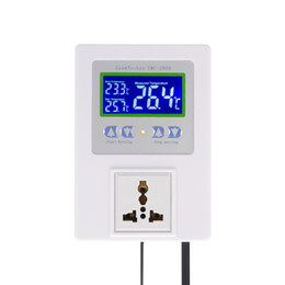 Temperature Switches Thermostats NZ - Freeshiping New Digital Intelligent Temperature Controller Pre-wired thermal regulator with Sensor Thermostat Heating Cooling Control Switch