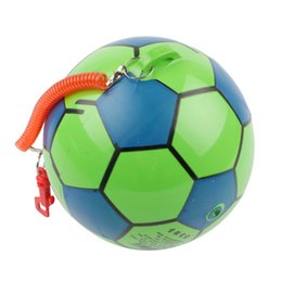 $enCountryForm.capitalKeyWord Australia - 10pc NEW Inflatable Football With String Sports Kids Toy Ball Juggling Ball Outdoor kindergarten clap the ball Decompression toys